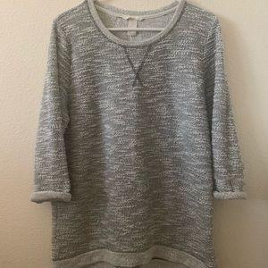 Grey quarter sleeve top